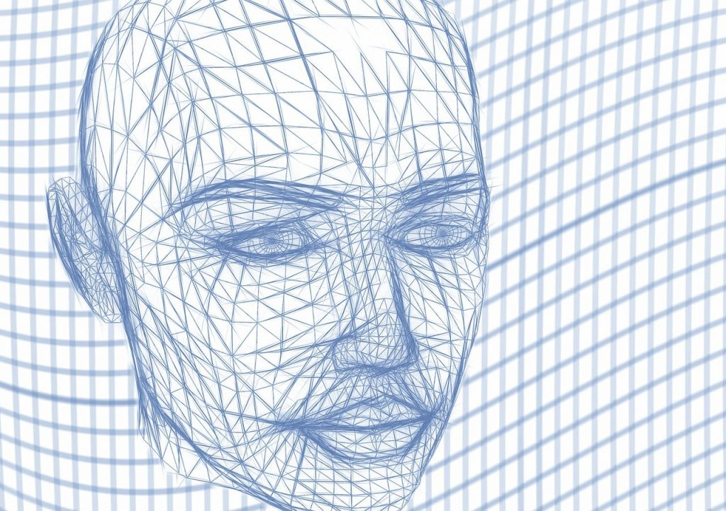 tête, filaire, visage